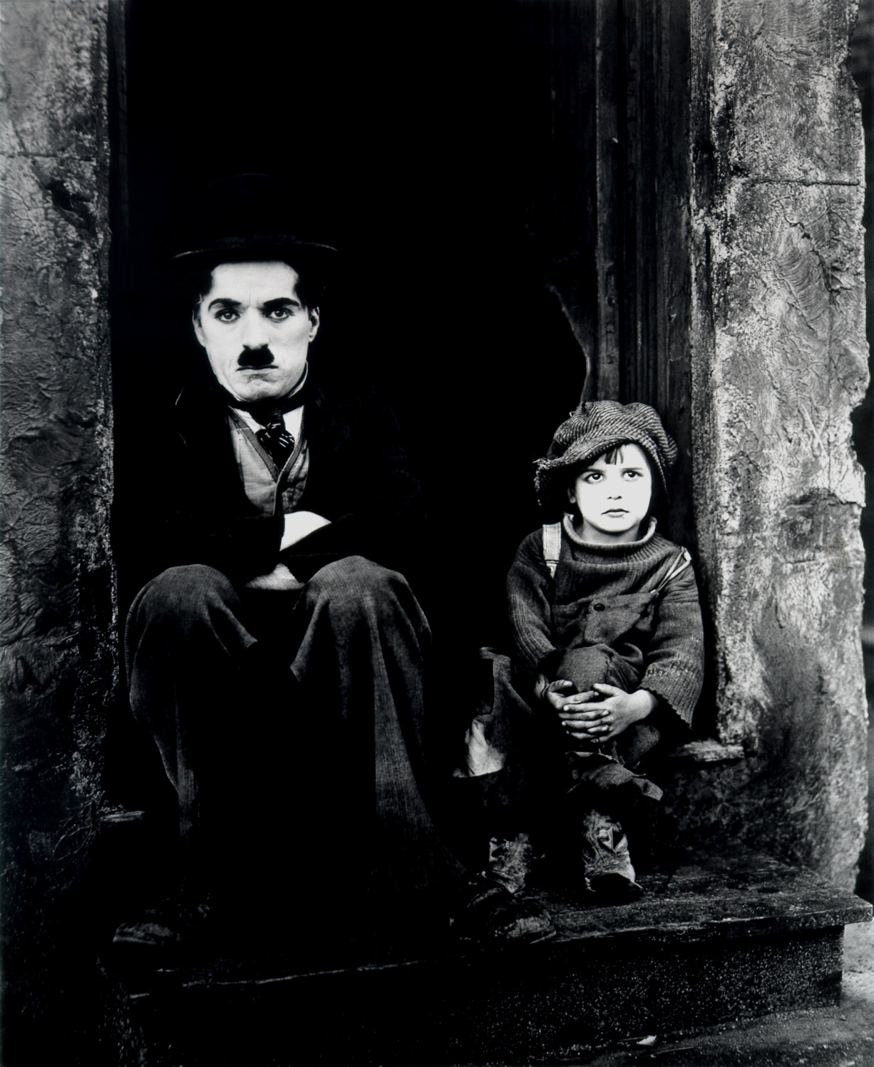 With Jackie Coogan (R)