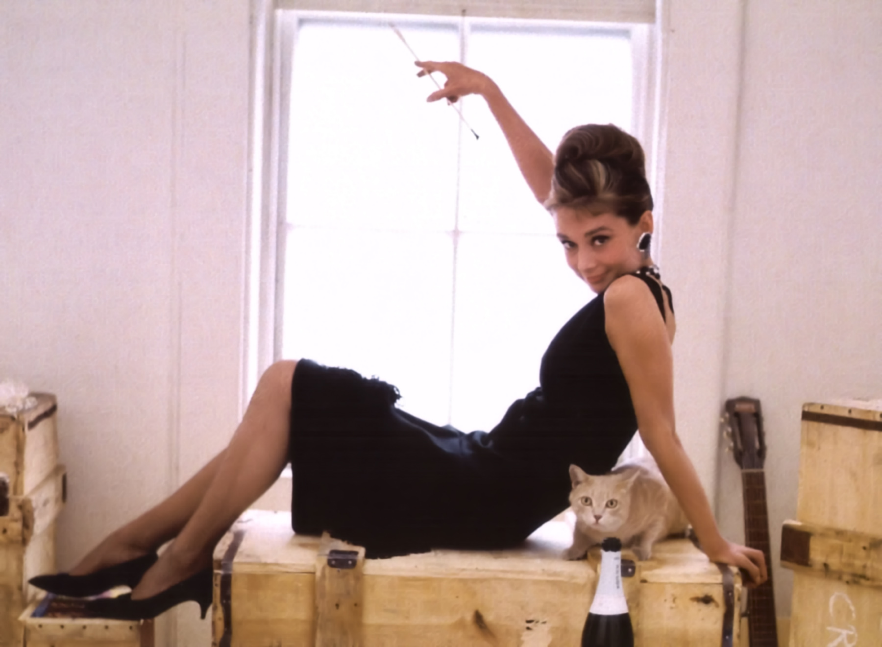 Annex%20 %20Hepburn,%20Audrey%20(Breakfast%20at%20Tiffanys) 02 Holly Golightly and Cat