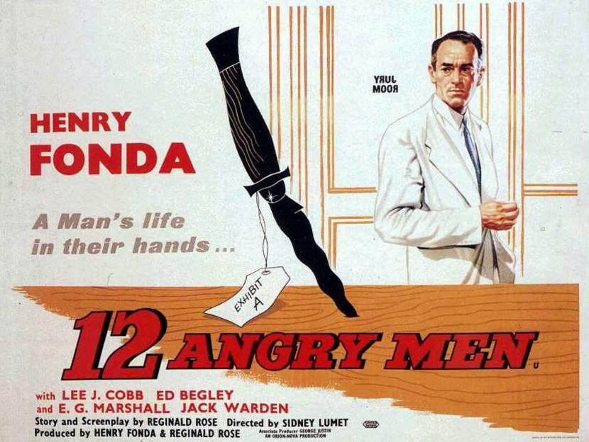 12 Angry Men (1957) starring Henry Fonda and Lee J. Cobb
