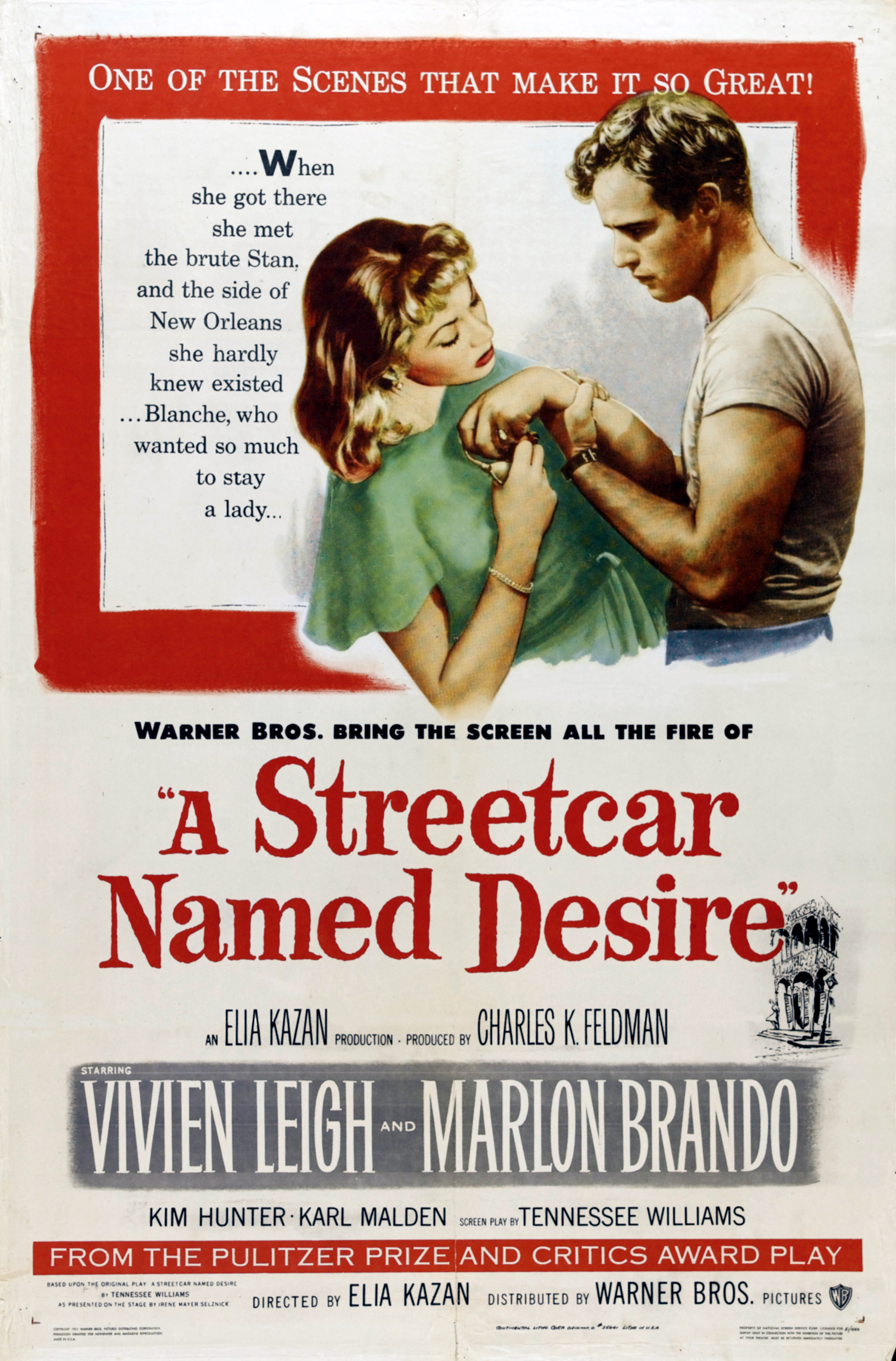 a review of the movie a streetcar named desire Find helpful customer reviews and review ratings for streetcar named desire at amazoncom read honest and unbiased product reviews from our users.