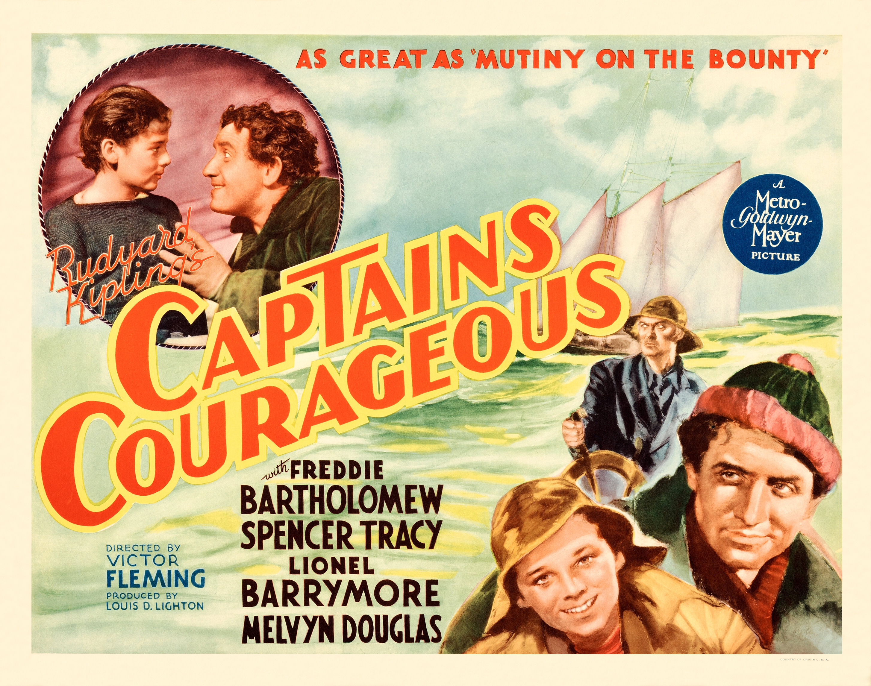 a review of the film captains courageous Dive deep into rudyard kipling's captains courageous with extended analysis, commentary, and discussion.