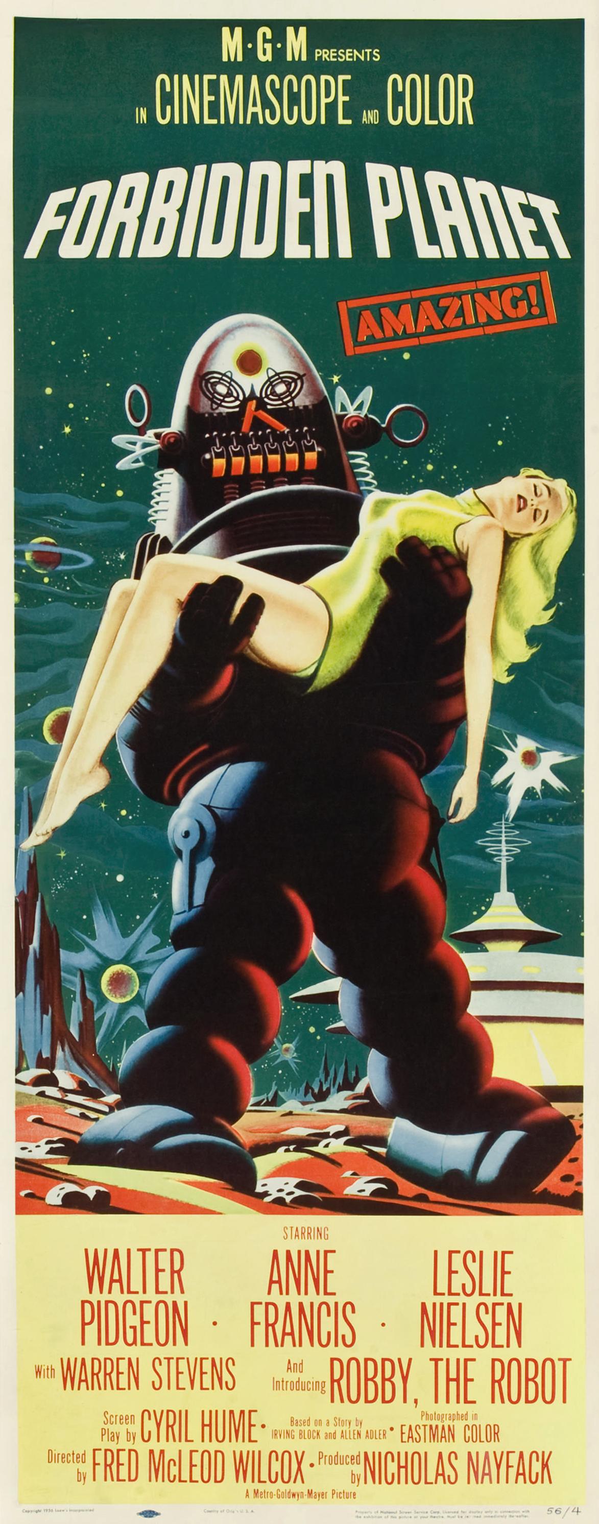 Forbidden Planet Forbidden Planet 1956 Poster