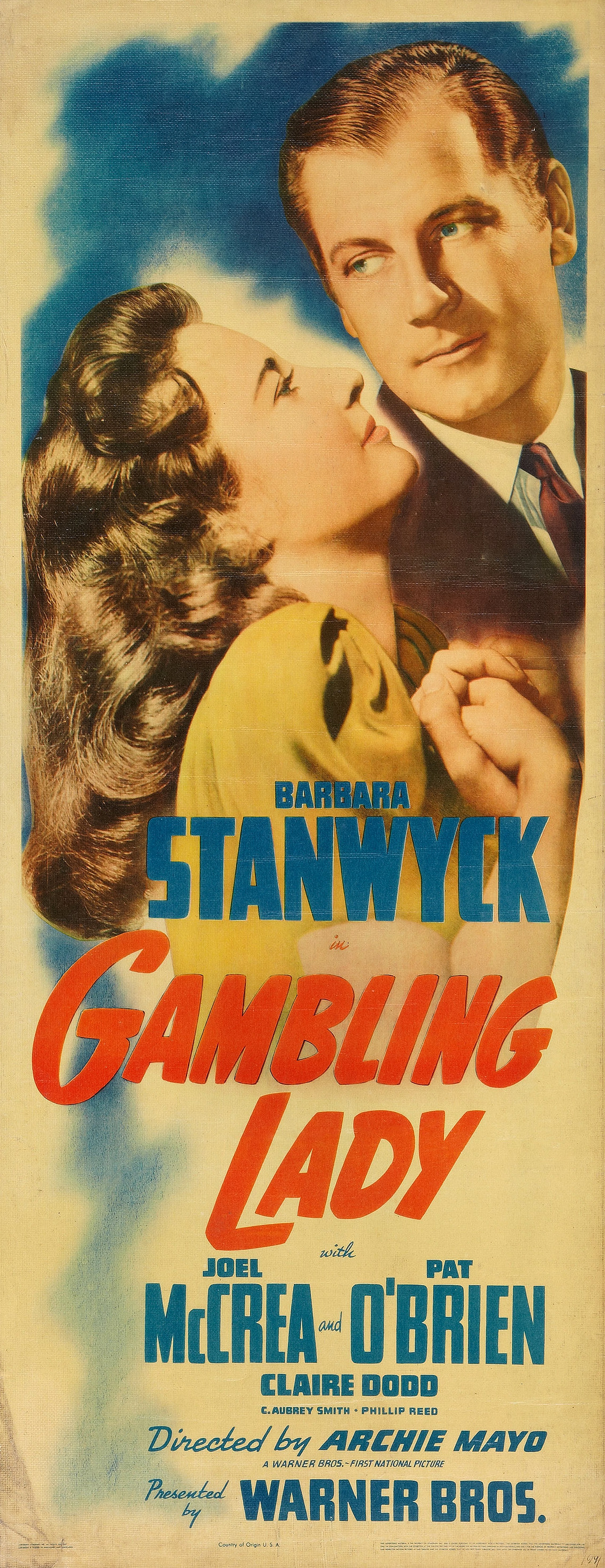 Gambling lady 1934 letter request for banning in casino