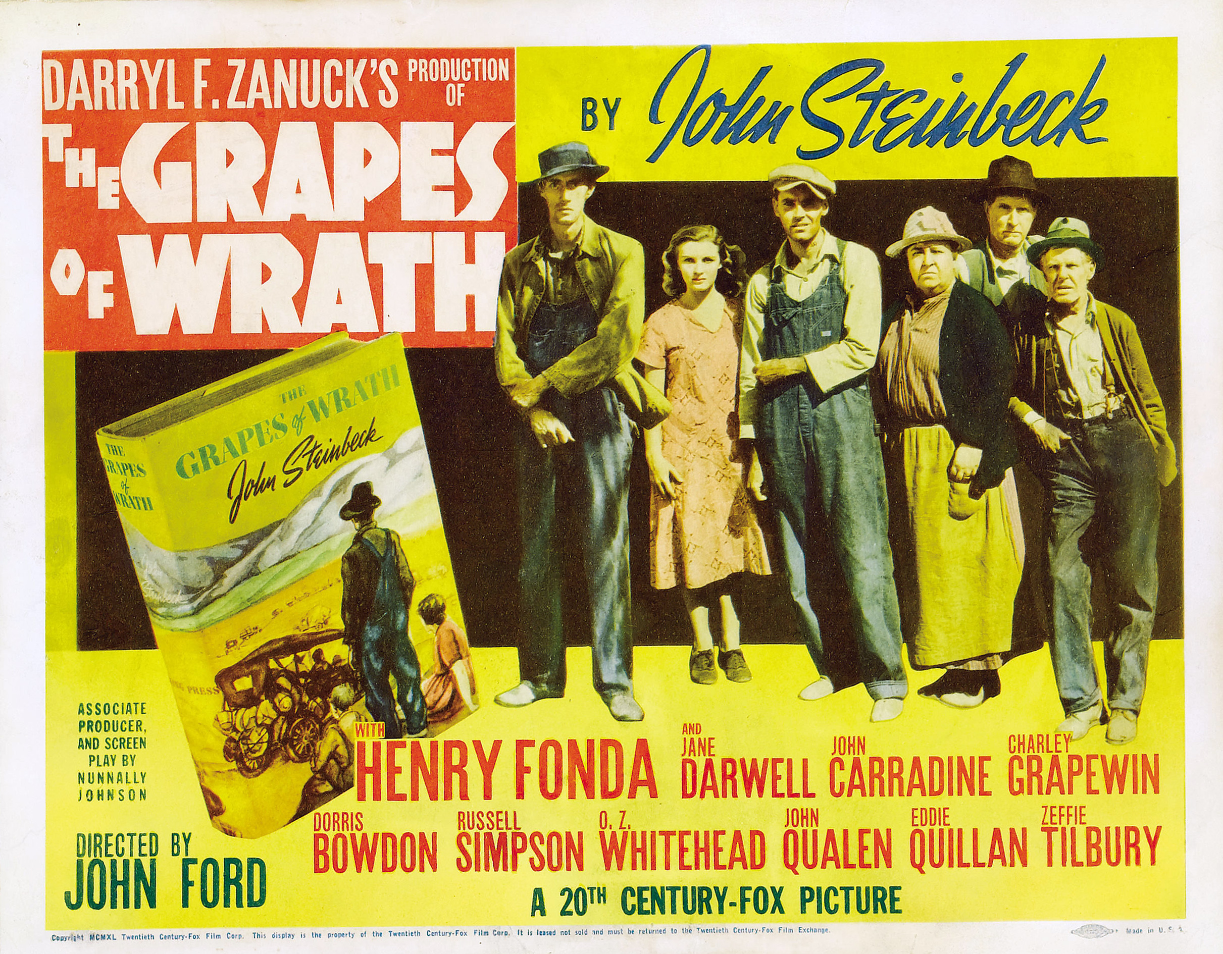 an analysis of the film the grapes of wrath Grapes of wrath (1940) expresses how achieving the american dream is often futile the movie, based on the book by john steinbeck, explains the living conditions of families in oklahoma during the great depression the film tells the fictitious story of the joad family who aspires to travel west .
