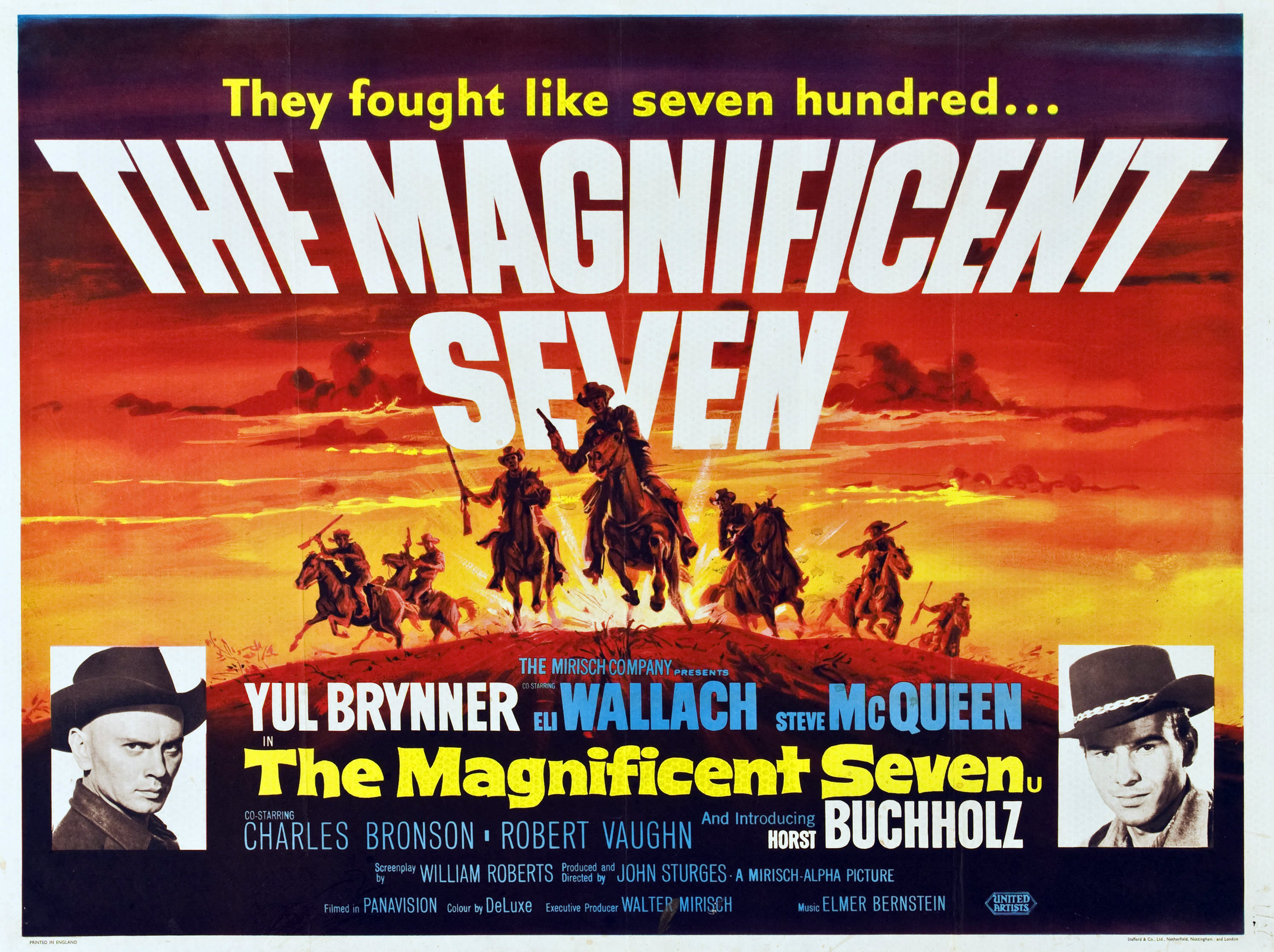 the magnificent seven vintage movie posters pinterest