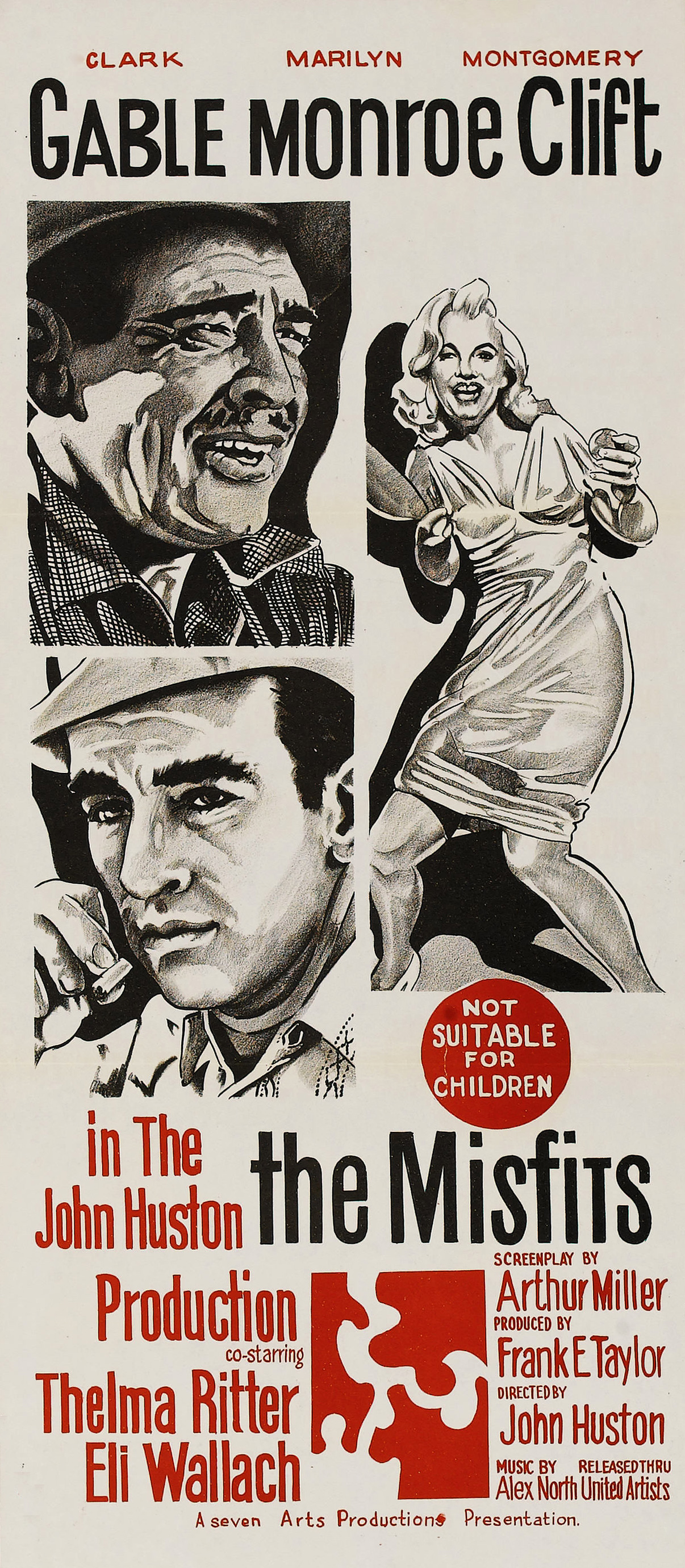 The Misfits / Clark Gable, Marilyn Monroe, Montgomery