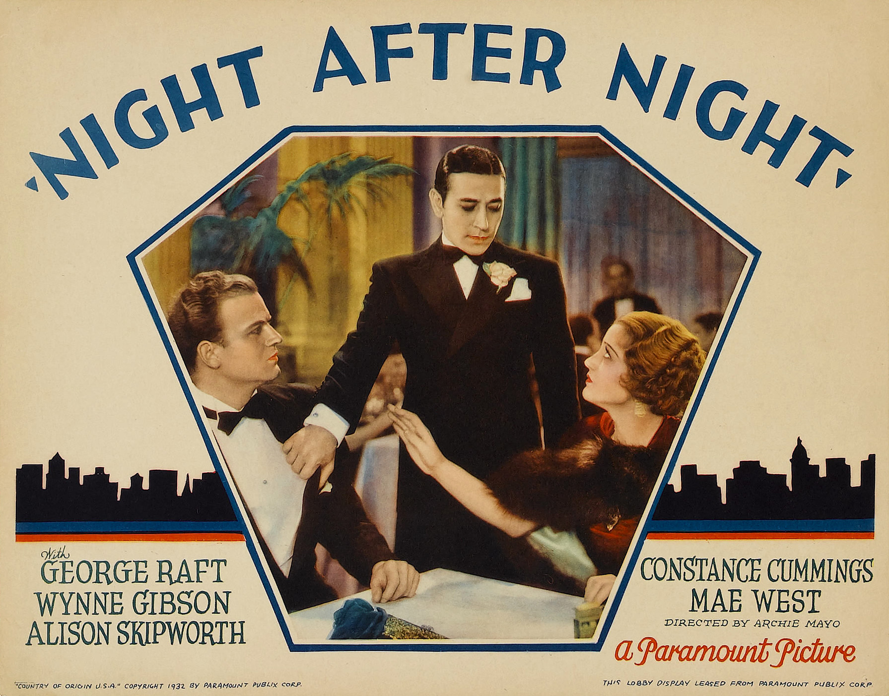 1932 movie night after night