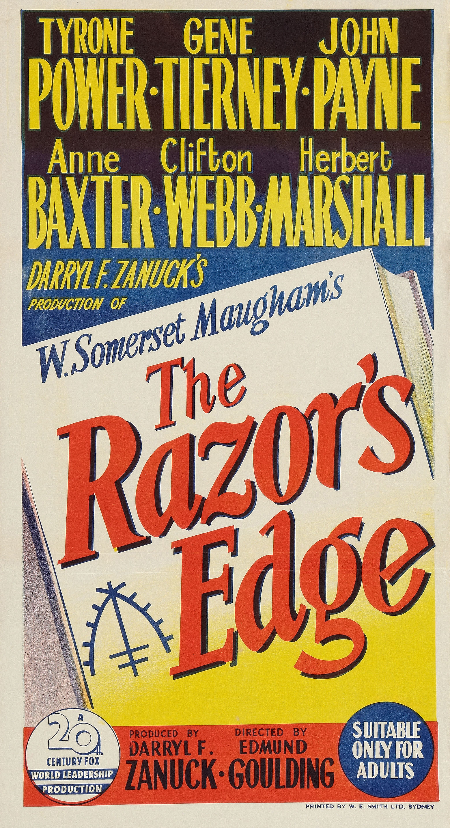 the razors edge Download the app and start listening to the razor's edge today - free with a 30  day trial keep your audiobook forever, even if you cancel don't love a book.
