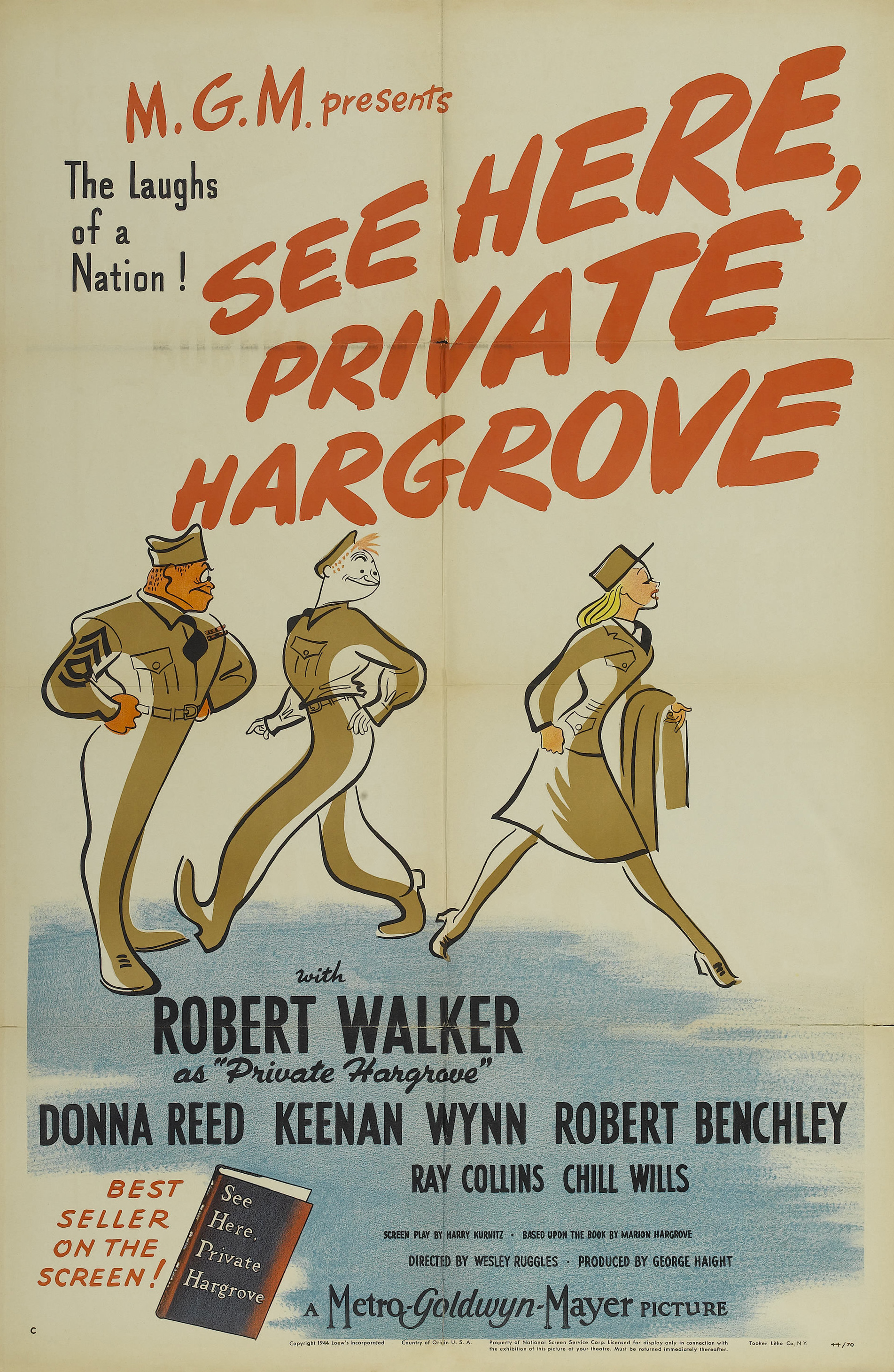 See here private hargrove 1944 stars robert walker donna reed
