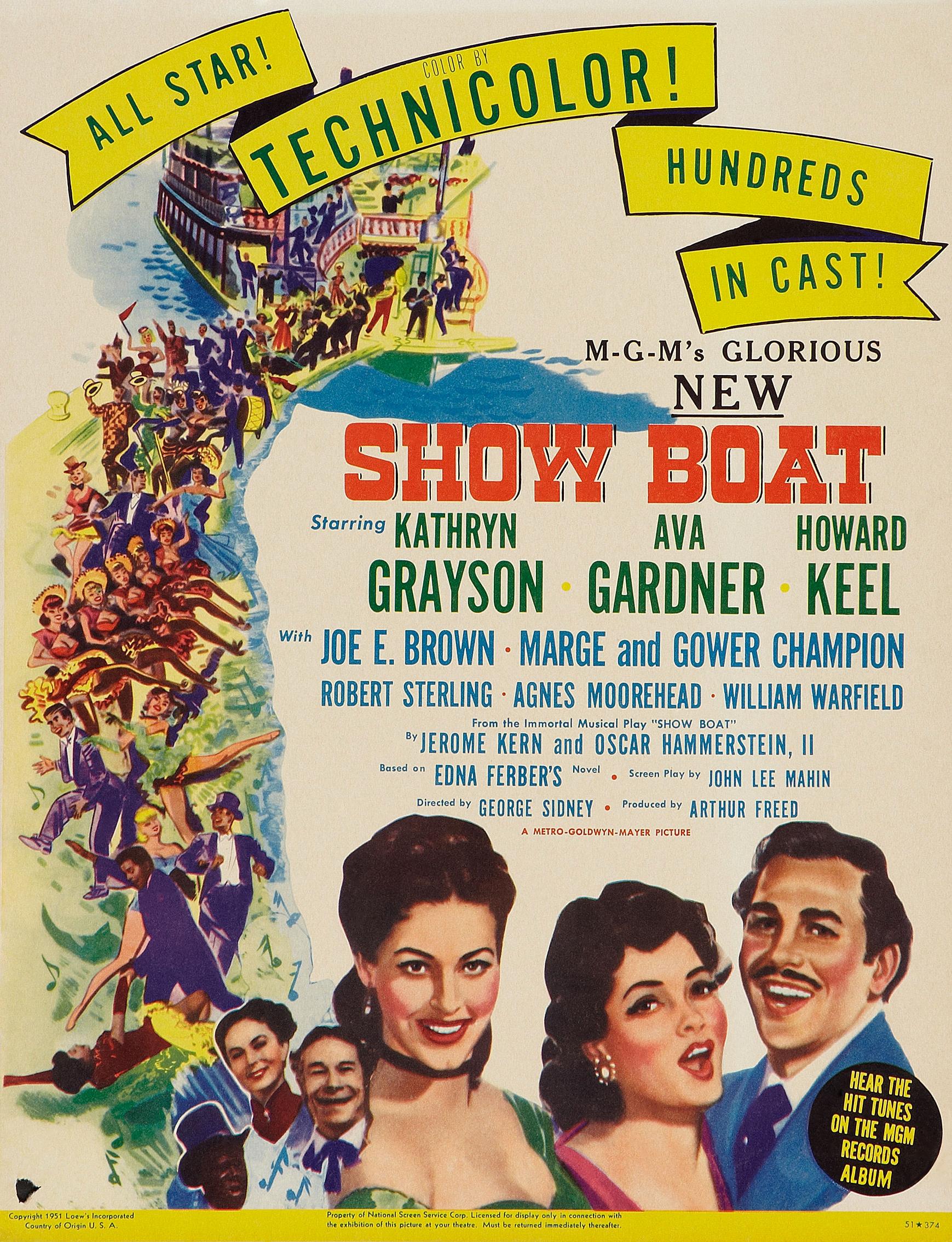 ショウ ボート 1951 show boat ミュージカルは終わらない musicals