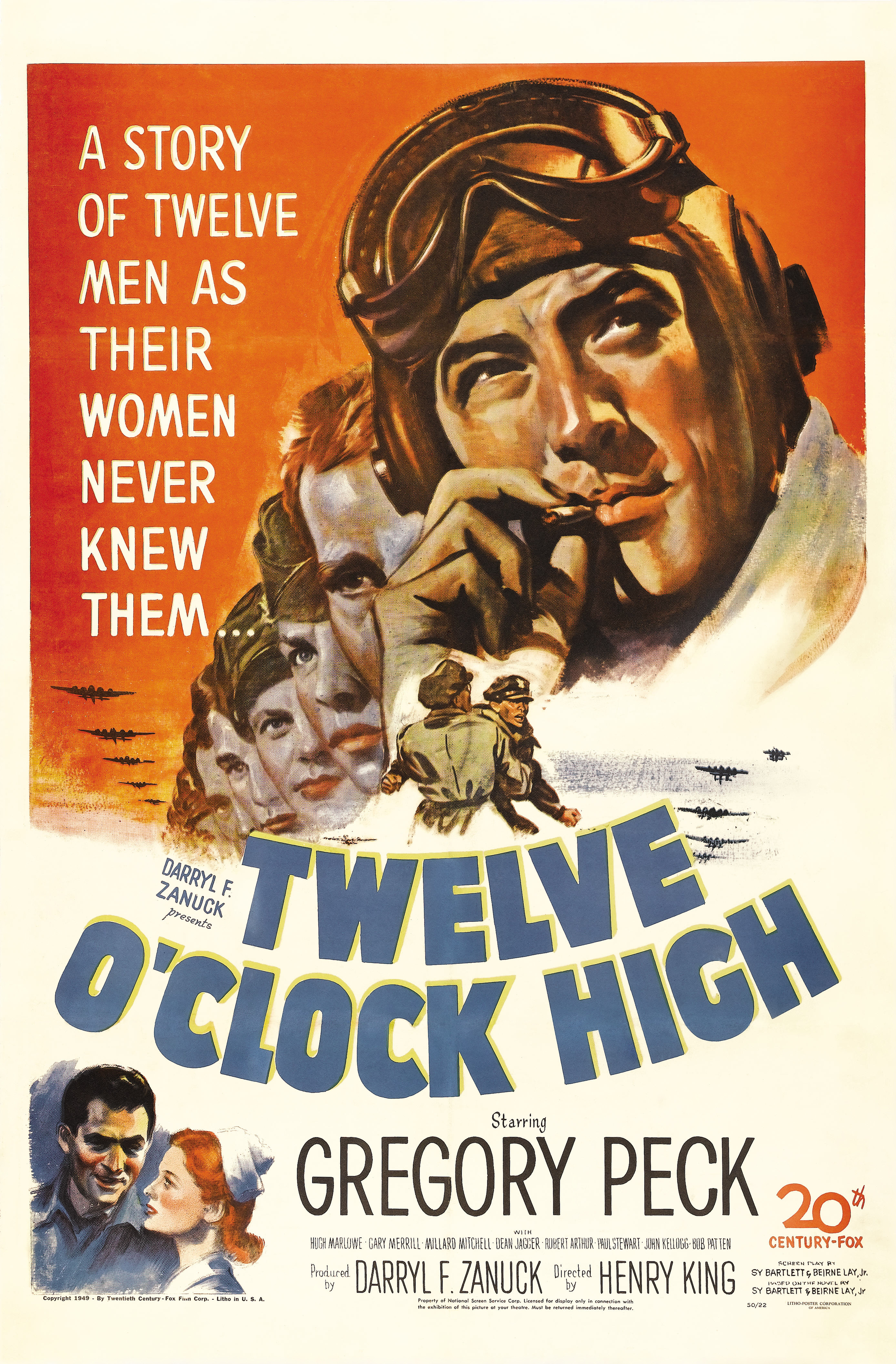 twelve oclock high Pride of the marines (1945) shortly before being sent off to war, al schmid falls  in love with ruth hartley, and begs her to wait for him al is sent to guadalcanal.