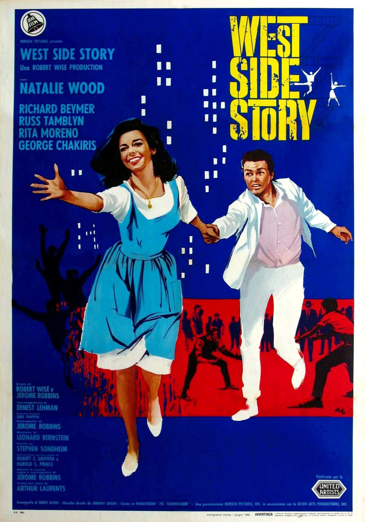 a comparison of romeo and juliet and the premiere of west side story on broadway in 1957