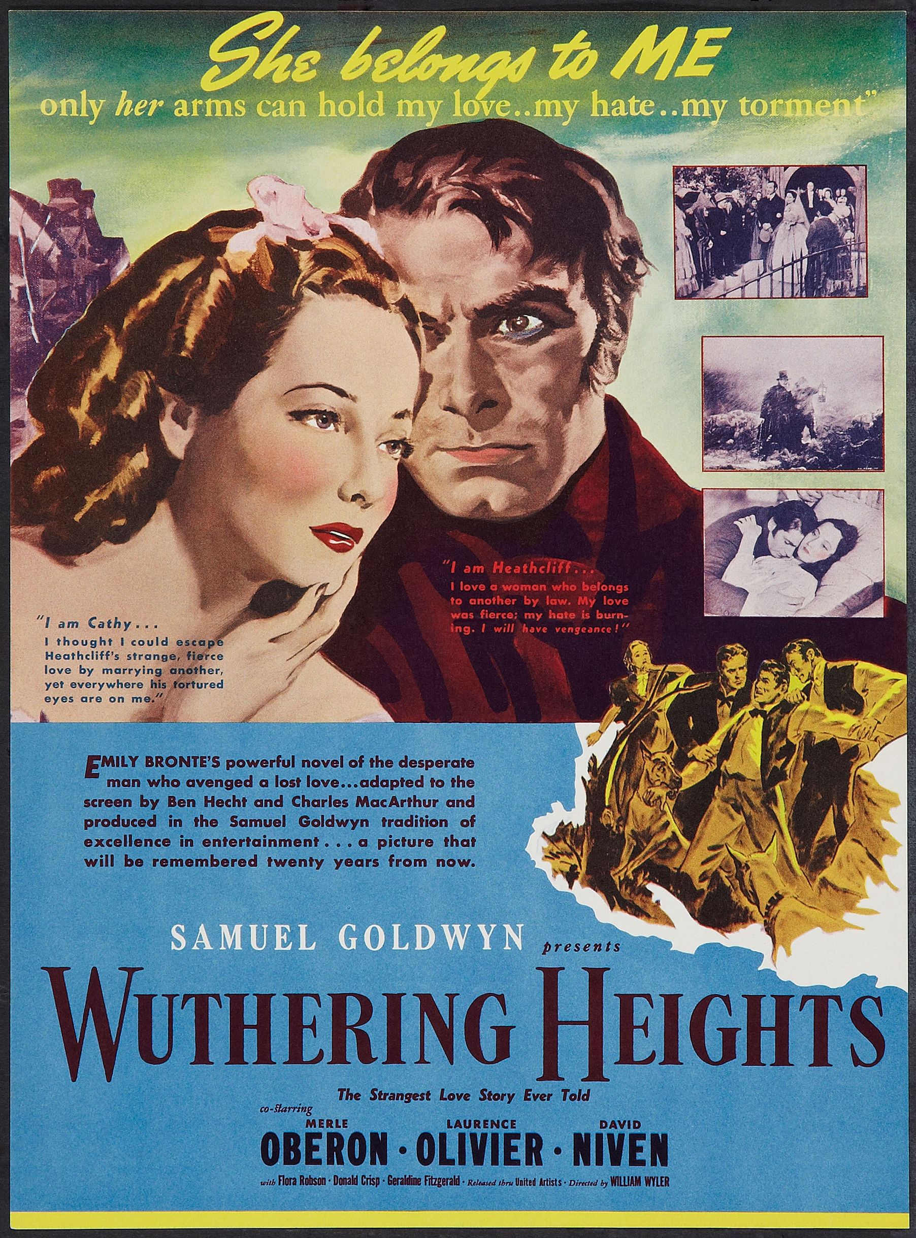 Wuthering heights, David niven and Nelly on Pinterest