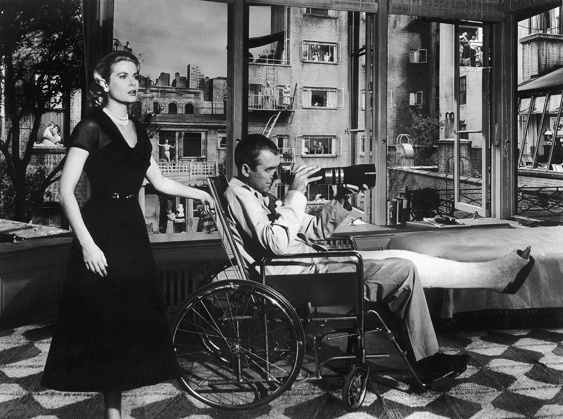 a review of rear window a film by alfred hitchcock Alfred hitchcock my favourite hitchcock film  i was nurturing an ambition to visit new york at the time and rear window, more than any other film i'd seen,.